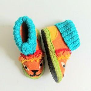 Garnet hill animal toddler boiled wool slippers